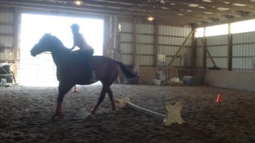 Jumping bareback--Mel